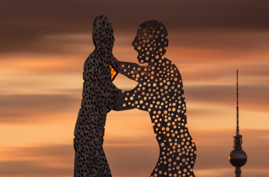 Berlin's Molecule Man in the River Spree.